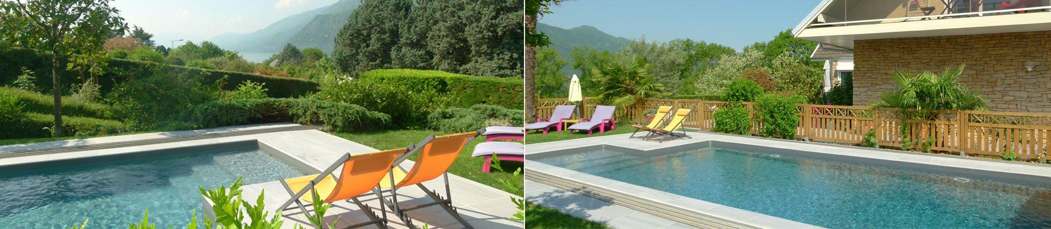 photo piscine et terrasse gîte au petit nice